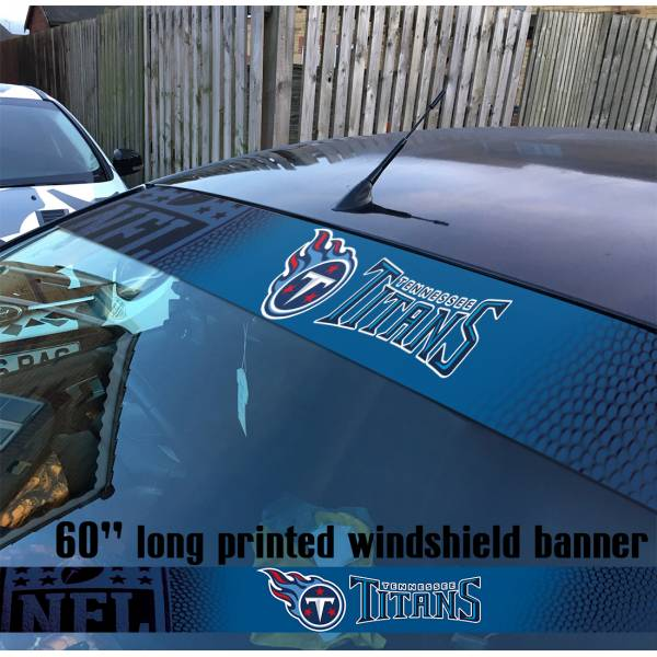 "60"" Tennessee Titans Nashville Logo NFL USA American Super Bowl Football Sun Strip Printed Windshield Car Vinyl Sticker Decal"