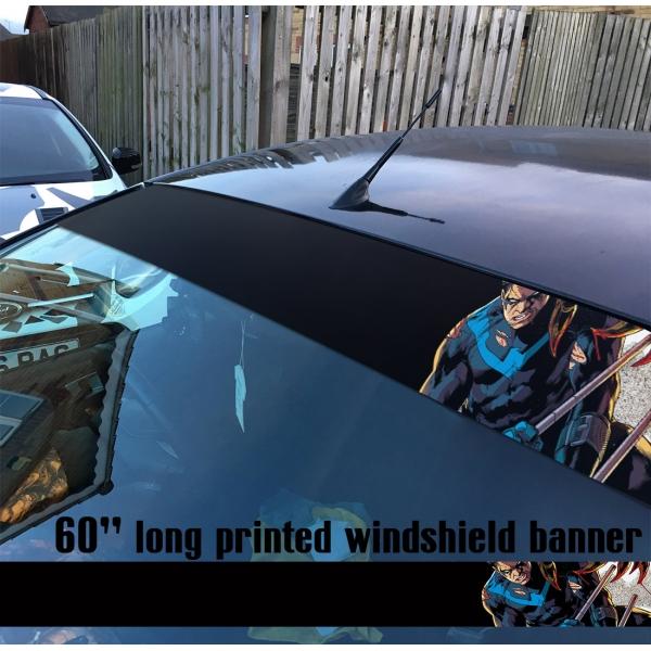 "60"" Dick Greyson Superhero V1 Sun Strip Printed Windshield Vinyl Sticker Decal>"