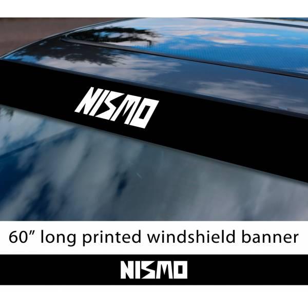 "60"" Nismo Nissan Motorsport v1 350z 370z GTR Logo Sun Strip Printed Windshield Car Vinyl Sticker Decal"