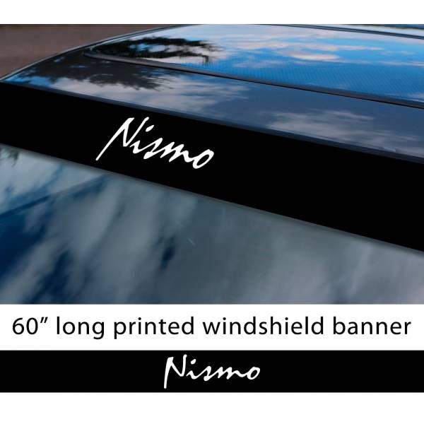 "60"" Nismo Nissan Motorsport v2 350z 370z GTR Logo Sun Strip Printed Windshield Car Vinyl Sticker Decal"