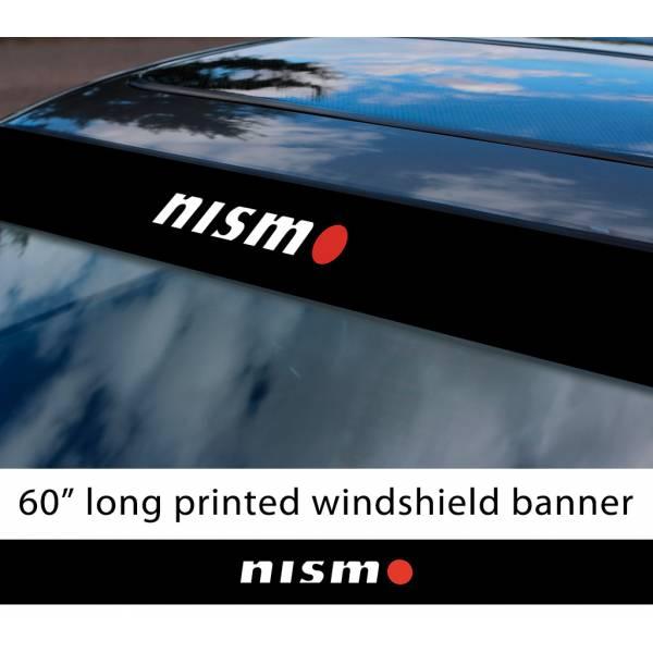 "60"" Nismo Nissan Motorsport v3 350z 370z GTR Logo Sun Strip Printed Windshield Car Vinyl Sticker Decal"