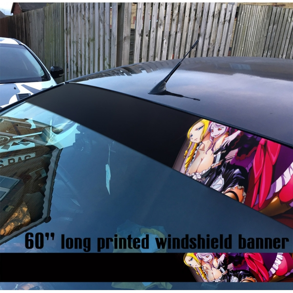 "60"" Overlord オーバーロード V4 Great Tomb of Nazarick Ainz Ooal Gown Albedo Shalltear Bloodfallen Sun Strip Printed Windshield Car Vinyl Sticker Decal"