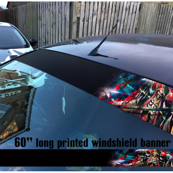 "60"" Overlord オーバーロード V6 Great Tomb of Nazarick Ainz Ooal Gown Albedo Shalltear Bloodfallen Sun Strip Printed Windshield Car Vinyl Sticker Decal>"