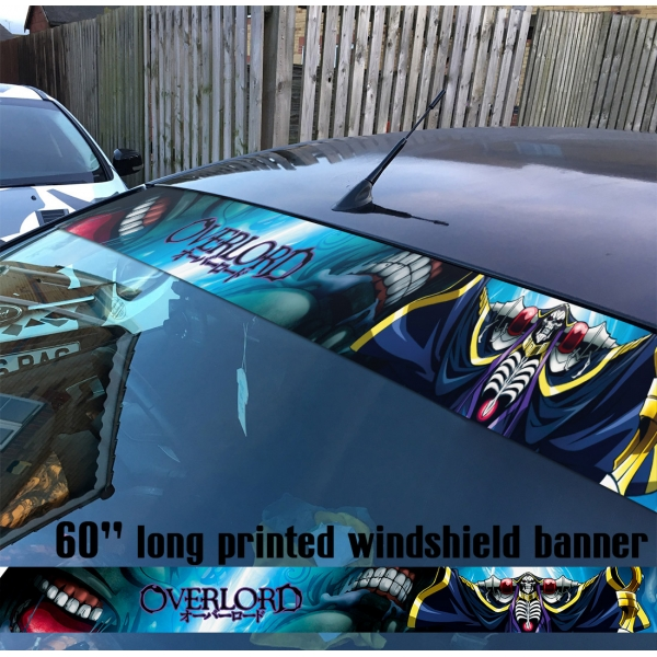 "60"" Overlord オーバーロード V8 Great Tomb of Nazarick Ainz Ooal Gown Albedo Shalltear Bloodfallen Sun Strip Printed Windshield Car Vinyl Sticker Decal"