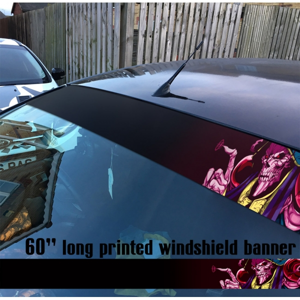 "60"" Overlord オーバーロード V9 Great Tomb of Nazarick Ainz Ooal Gown Albedo Shalltear Bloodfallen Sun Strip Printed Windshield Car Vinyl Sticker Decal>"