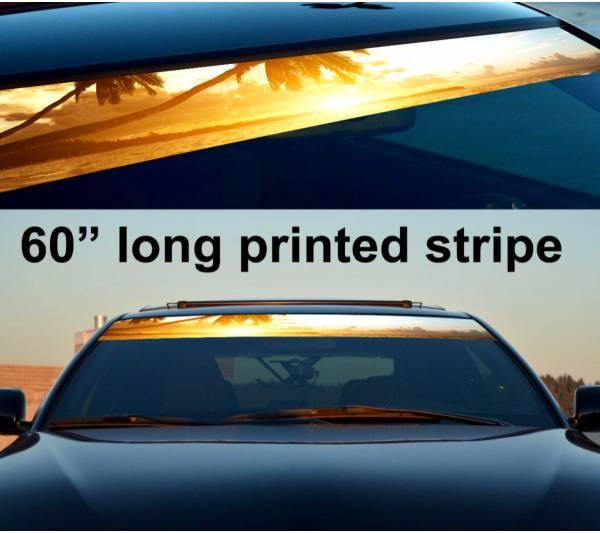 "60"" Sunset Heaven Sun Strip Printed Windshield Graphics Car Vinyl Sticker Decal"