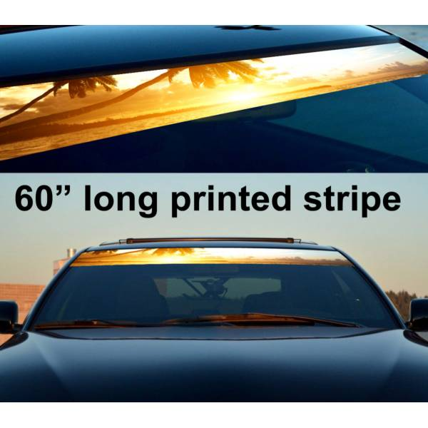 "60"" Sunset Heaven Sun Strip Printed Windshield Graphics Car Vinyl Sticker Decal>"