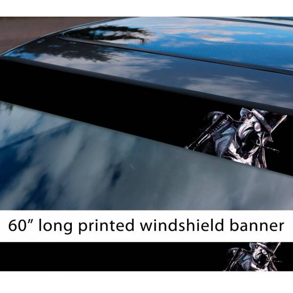 "60"" Penguin Oswald Cobblepot Bruce Wayne Comic Gotham Superhero Sun Strip Printed Windshield Car Vinyl Sticker Decal>"