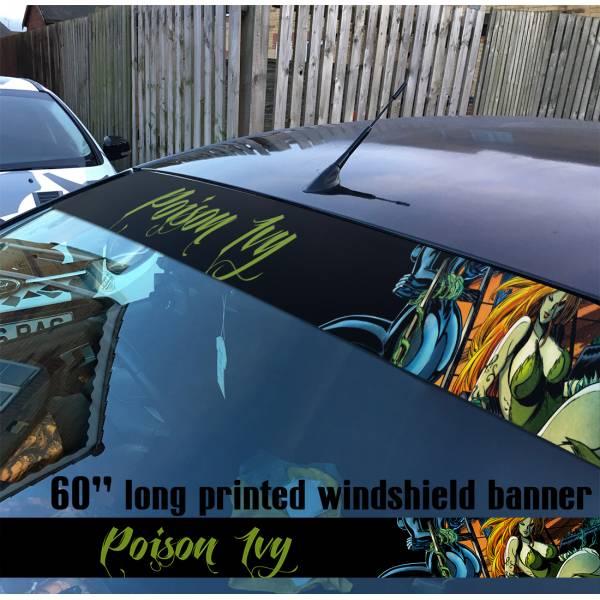 "60"" Poison Ivy Supervillain Batman DC Comics Sun Strip Printed Windshield Car Vinyl Sticker Decal"