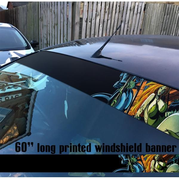 "60"" Poison Ivy Supervillain Bruce Wayne Comic Sun Strip Printed Windshield Car Vinyl Sticker Decal>"