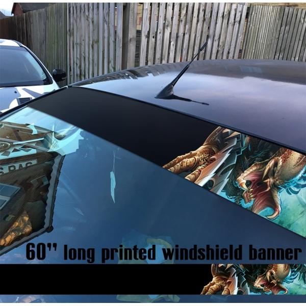 "60"" Mask Helmet v2 Yautja Hunter Movie U.S. Army Special Forces Sun Strip Printed Windshield Car Vinyl Sticker Decal>"