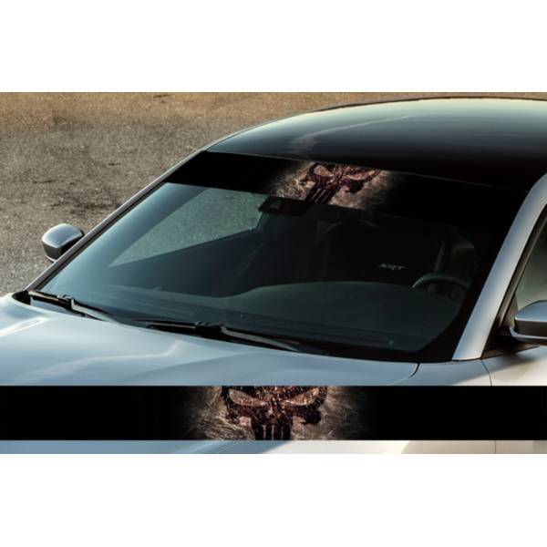 "60"" Francis Frank Castle Skull Metal Blood Marine Corps USA V1 Comic Printed Windshield Banner Sticker Decal>"