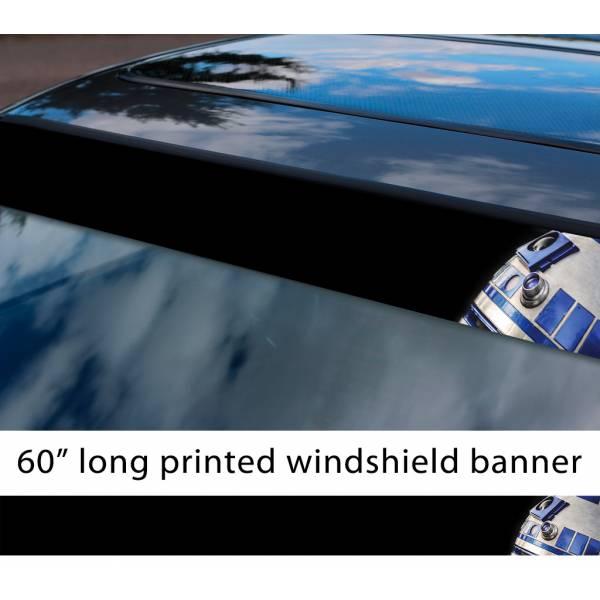"60"" R2 D2 Droid v1 Rebel Alliance Jedi Skywalker R2D2 First Order Sun Strip Printed Car Vinyl Sticker Decal>"