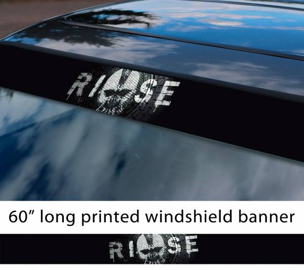 "60"" Rise Bane Batman Dark Knight Gotham DC Bad Sun Strip Printed Windshield Car Vinyl Sticker Decal"