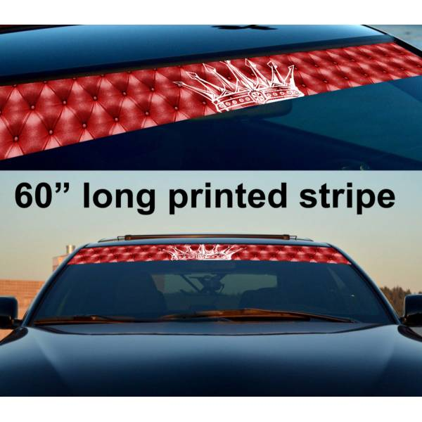 "60"" Royal JDM Stance Sun Strip Printed Windshield Graphics Vinyl Sticker Decal"