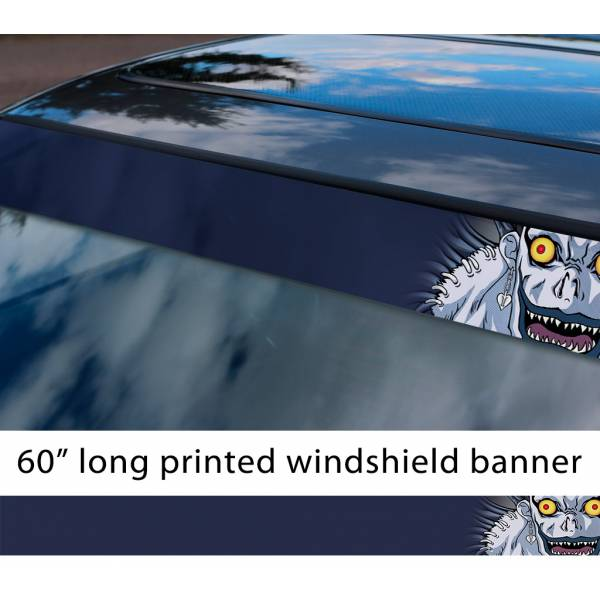 "60"" Ryuk Death Shinigami Light Yagami Anime Manga Sun Strip Printed Car Vinyl Sticker Decal>"