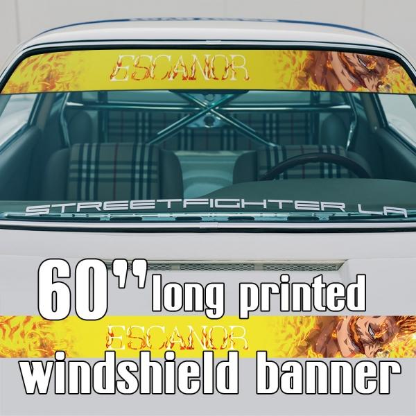 "60"" Escanor v2 Lion's Sin Pride Strongest Holy Knight Divine Axe Rhitta Sunshine Anime Manga Sun Strip Printed Windshield Car Vinyl Sticker Decal>"
