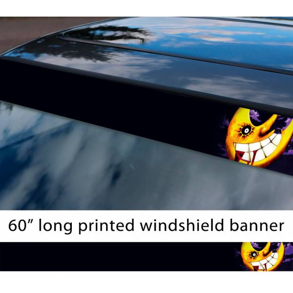 "60"" Soul Eater The Moon Face Anime Manga Sun Strip Printed Windshield Car Vinyl Sticker Decal"