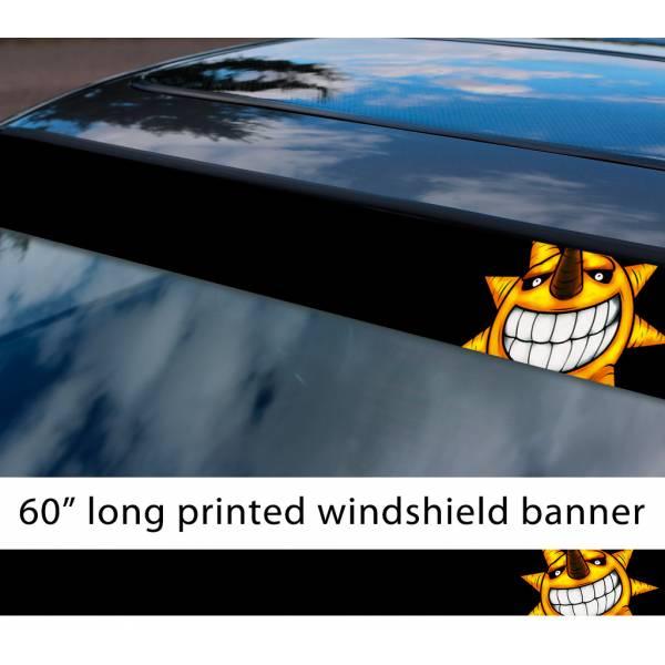 "60"" Soul Eater The Sun Face Anime Manga Sun Strip Printed Windshield Car Vinyl Sticker Decal"