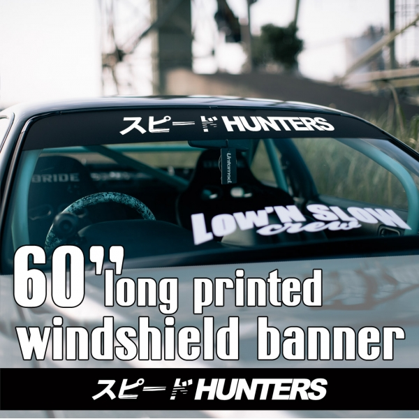 "60"" Speedhunters v2 Katakana Japan JDM Speed Street Racing Drift Royal Stance Sun Strip Printed Windshield Car Vinyl Sticker Decal>"