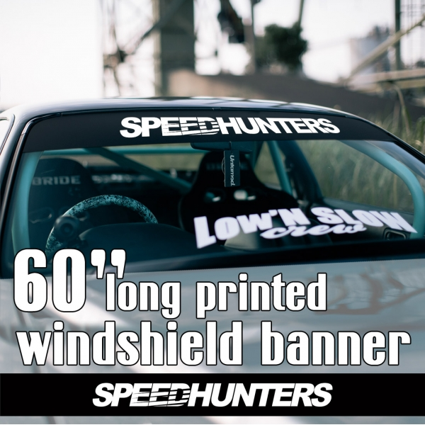 "60"" Speedhunters v3 Logo Japan JDM Speed Street Racing Drift Royal Stance Sun Strip Printed Windshield Car Vinyl Sticker Decal"