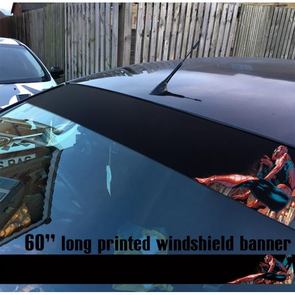 "60"" Peter Parker Superhero Web Comic V1 Sun Strip Printed Windshield Car Vinyl Sticker Decal>"