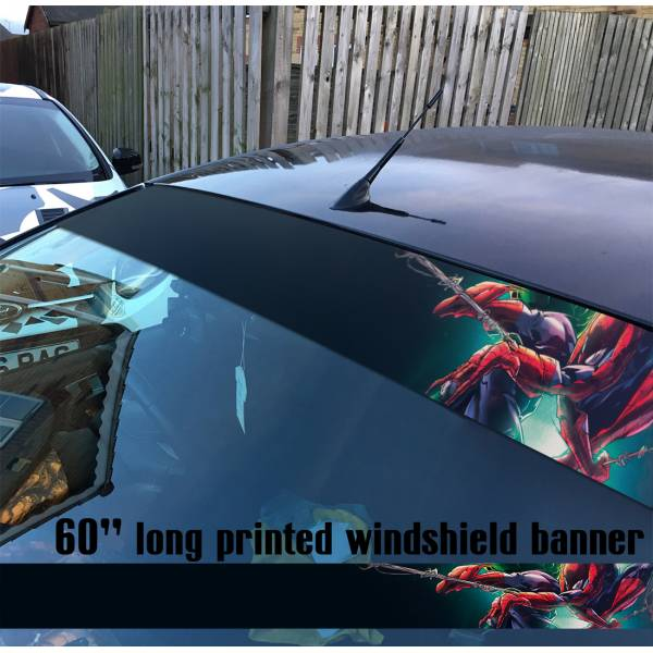 "60"" Spider-Man Superhero Peter Parker Marvel Comics V4 Sun Strip Printed Windshield Car Vinyl Sticker Decal"