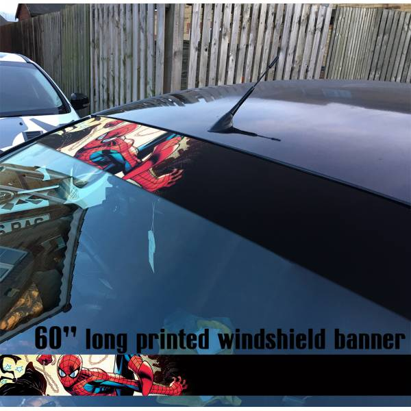 "60"" Spider-Man Superhero Peter Parker Marvel Comics V5 Sun Strip Printed Windshield Car Vinyl Sticker Decal"