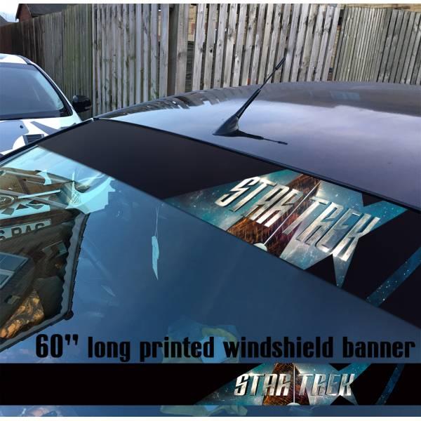 "60"" Star Trek Logo v4 USS Enterprise Ship NCC 1701 A Sun Strip Printed Windshield Car Vinyl Sticker Decal"