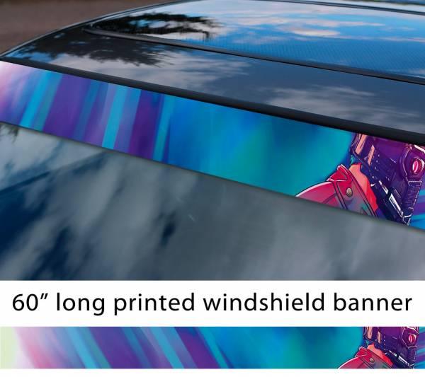 "60"" Guardians of the Galaxy Star Lord Helmet Comic Marvel Sun Strip Printed Car Vinyl Sticker Decal"
