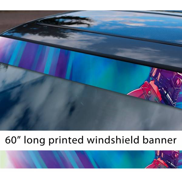 "60"" Guardians of the Galaxy Star Lord Helmet Comic  Sun Strip Printed Car Vinyl Sticker Decal"
