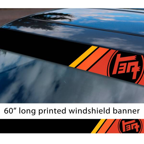 "60"" Toyota TEQ Logo Retro Racing v1 Sun Strip Printed Windshield Car Vinyl Sticker Decal"