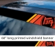"60"" TEQ Retro Racing v1 Sun Strip Printed Windshield Car Vinyl Sticker Decal>"