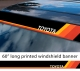 "60"" Toyota TEQ Logo Retro Racing v3 Sun Strip Printed Windshield Car Vinyl Sticker Decal"