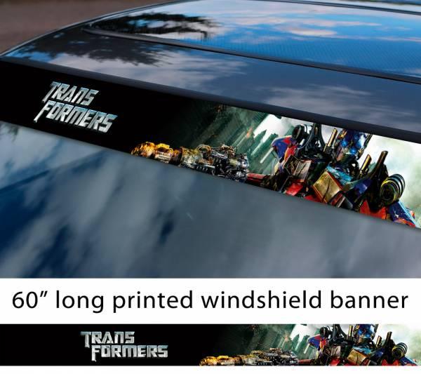 "60"" Transformers v2 Autobot Optimus Prime Decepticons Megatron Bumblebee Emblem Sun Strip Printed Windshield Car Vinyl Sticker Decal"