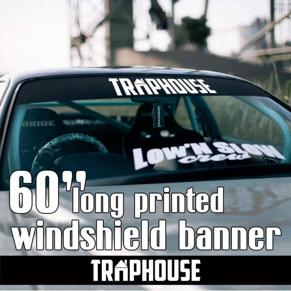 "60"" Traphouse Event Royal Racing Tuning Lifestyle Stance Banner JDM Sun Strip Printed Windshield Car Vinyl Sticker Decal"