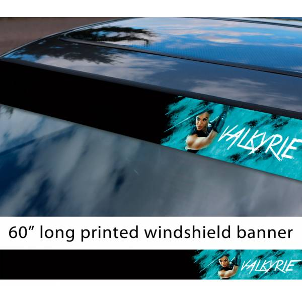 "60"" Valkyrie Brunnhilde Thor Ragnarok Valkyrior Asgard Loki Odin Avengers Comic Sun Strip Printed Windshield Car Vinyl Sticker Decal"