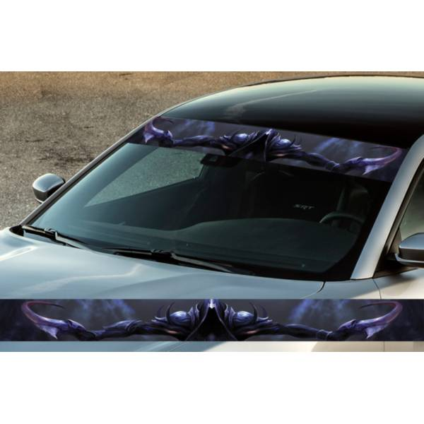"60"" Warrior Blades Witcher Printed Windshield Banner Wrap Vinyl Sticker Car Truck>"