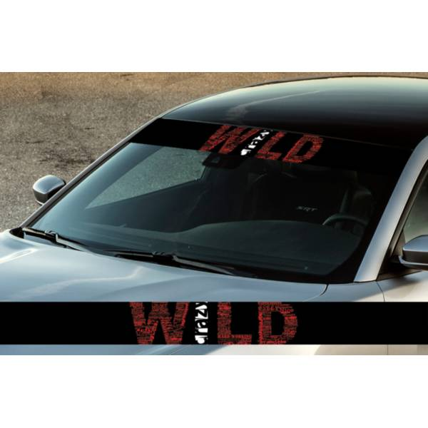 "60"" Wild Crazy Racing Off-Road Printed Windshield Banner Wrap Vinyl Sticker Truck"