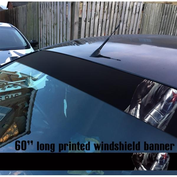 "60"" Bucky Barnes v1 Steve Rogers Hydra Sun Strip Printed Windshield Car Vinyl Sticker Decal>"