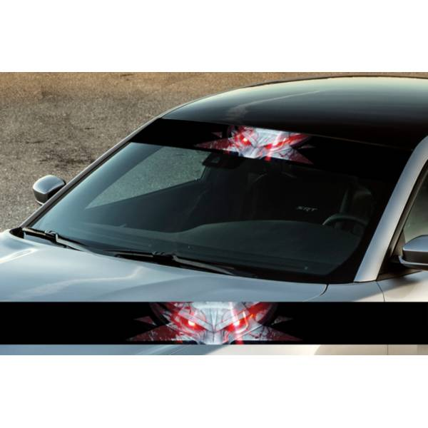 "60"" Wolf Blood Metal Hell Printed Windshield Banner Wrap Vinyl Sticker Car Truck"