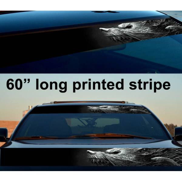 "60"" Wolf Snake Root Monster Sun Strip Printed Windshield Car Vinyl Sticker Decal"