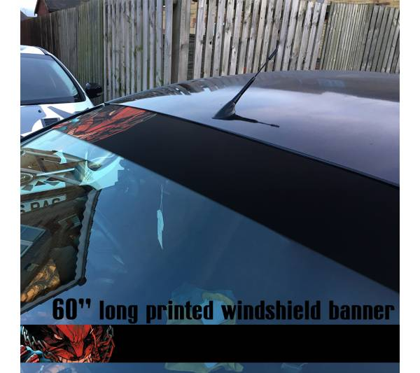 "60"" Wolverine Logan X Men Weapon X  Marvel Comics Sun Strip Printed Windshield Car Vinyl Sticker Decal"