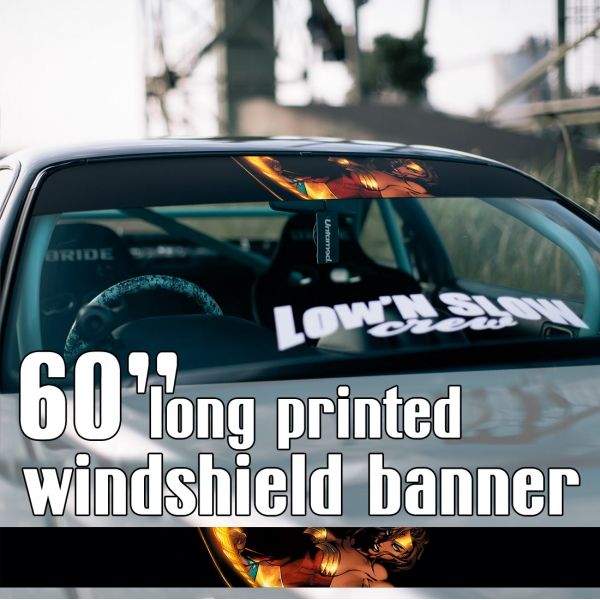 "60"" Diana Prince Lasso v2 Gold Comic Woman Sun Strip Printed Windshield Car Vinyl Sticker Decal>"