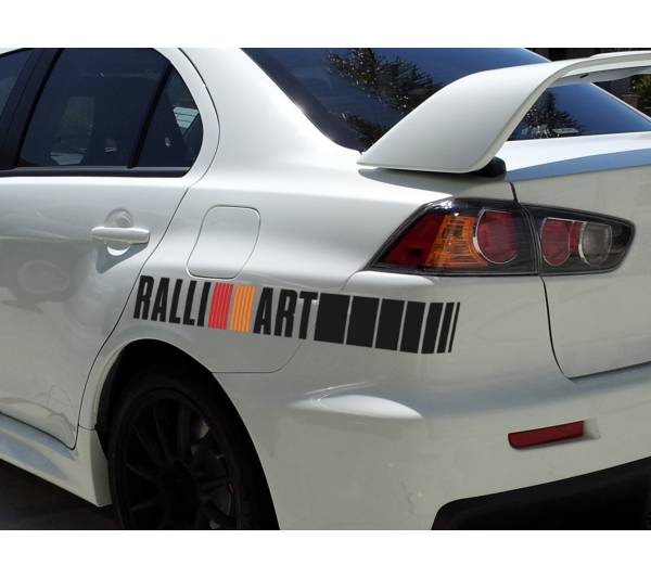 2x Ralli Art Mitsubishi Racing Japan JDM Car Vinyl Sticker Decal