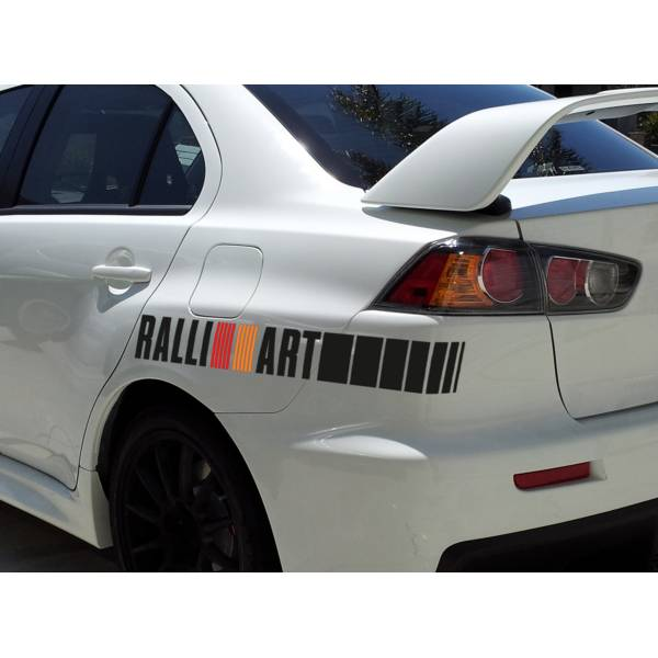 2x Ralli Art  Racing Japan JDM Car Vinyl Sticker Decal #Mitsubishi