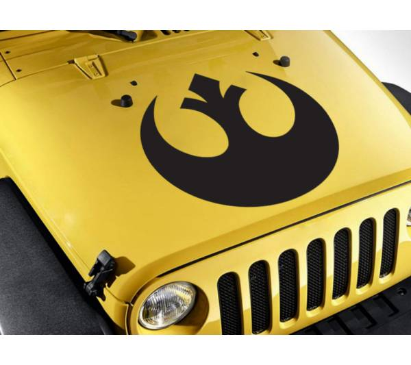 Hood Rebel Alliance Logo Star Wars Skywalker Jedi Force Car Vinyl Sticker Decal