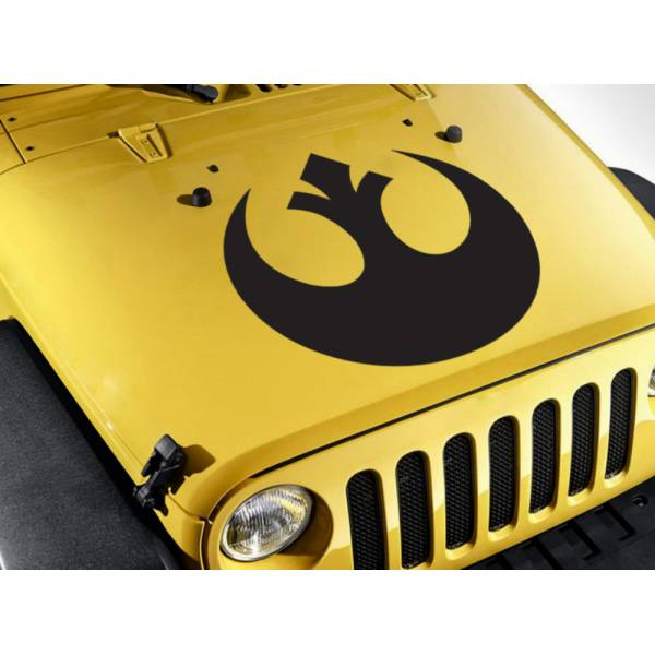 Hood Rebel Alliance  Skywalker Jedi Force Car Vinyl Sticker Decal >