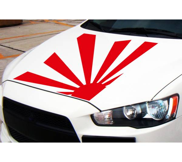 Big Hood Jap Rising Sun Japan Flag Navy JDM Racing Car Body Vinyl Sticker Decal