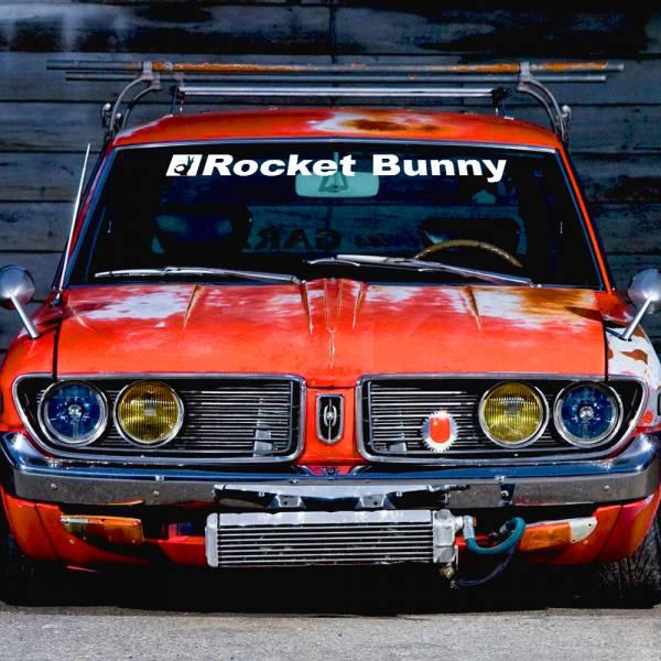 Windshield JDM Rocket Bunny Logo Body Kit Simply Clean Stance Tuning  Japan Car Vinyl Sticker Decal